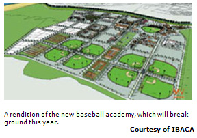 A rendition of the new baseball academy, which will break ground this year.