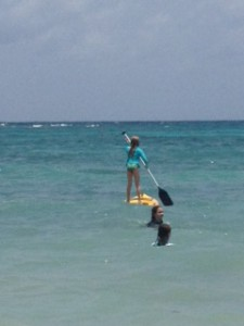 Chinchy paddle boarding