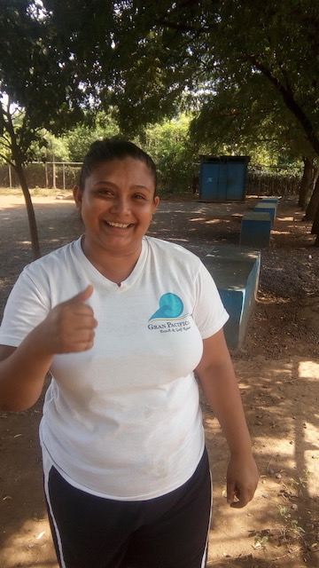 Excellent volunteer, Katy Davila from Gran Pacifica