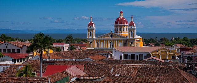 Colorful colonial-style architecture in Nicaragua