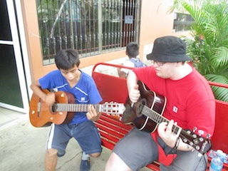 Love Light Melody, May 2017, man and boy playing guitar, guitar lesson copia.jpg