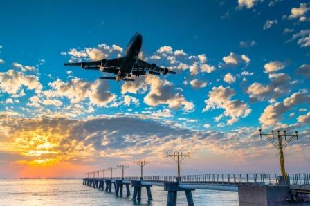 Airplane_at_Sunset